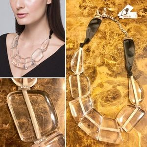 Jewelry - WHBM-Lucite Ribbon Statement Necklace-NWT